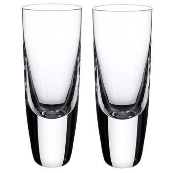American Bar - Straight Bourbon Shot Glasses, Set of 2 5 1/2 in