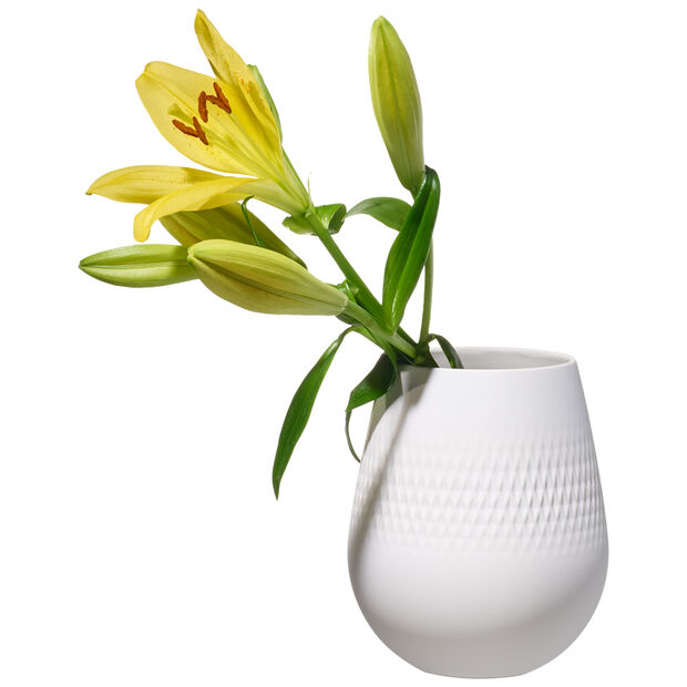 Manufacture Collier blanc Small Vase : Carre 5 in, , large