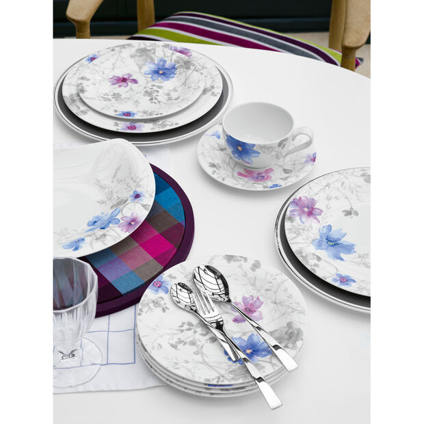 Mariefleur Grey Teacup Suacer 6 1/4 in, , large
