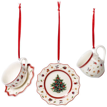 Toy's Delight Decoration Ornaments : Tableware Set of 3 2.5 in