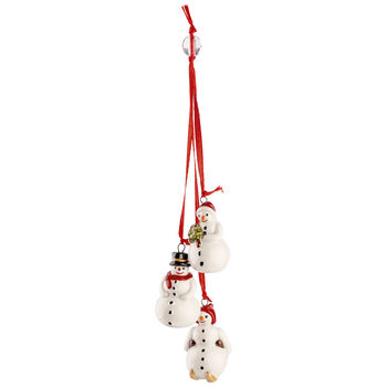My Christmas Tree Ornament : Trio of Snowmen 8.25 in