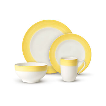 Colorful Life Lemon Pie 8 Piece Dinner Set for 2