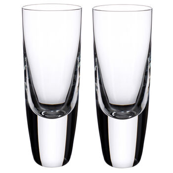 American Bar - Straight Bourbon Shot Glasses, Set of 2 5 1/2 in