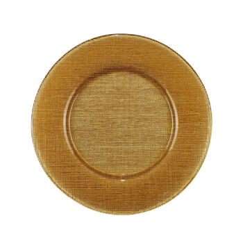 Verona Glass Charger, Gold