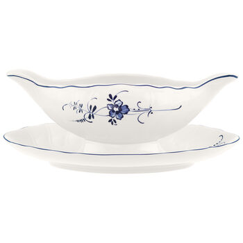Old Luxembourg 1-Piece Gravy Boat with Stand 14 oz