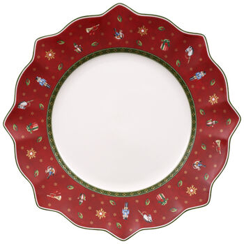 Toy's Delight Dinner Plate, Red