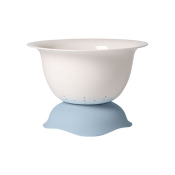 Clever Cooking Strainer/Serving Bowl : Blue 11.5 in