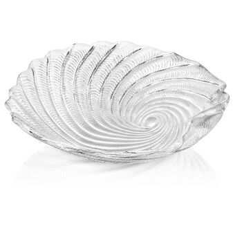 St Tropez Serving Bowl: Clear 12.5in