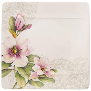 Quinsai Garden Square Dinner Plate : Magnolia 10.5 in