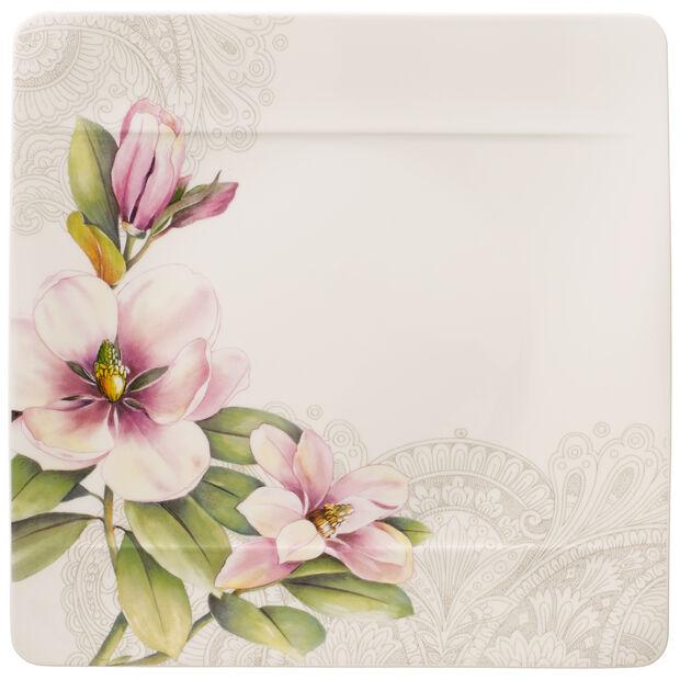 Quinsai Garden Square Dinner Plate : Magnolia 10.5 in, , large