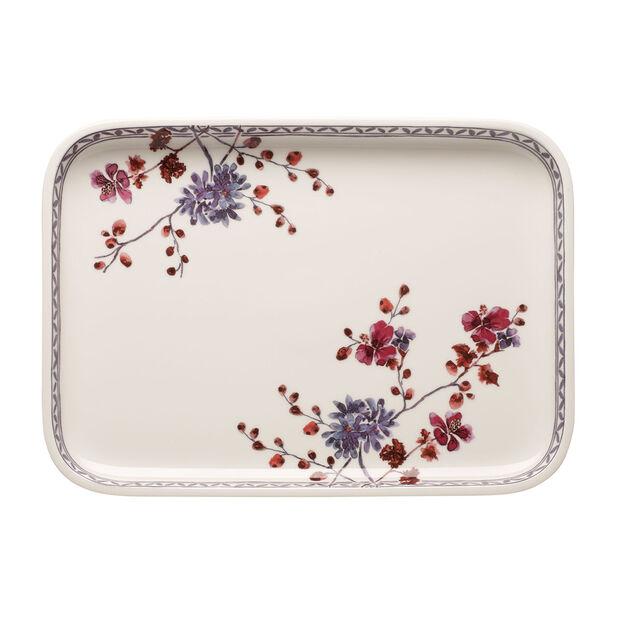 Artesano Provencal Lavender Baking Rectangular Serving Plate/Lid 14 in, , large