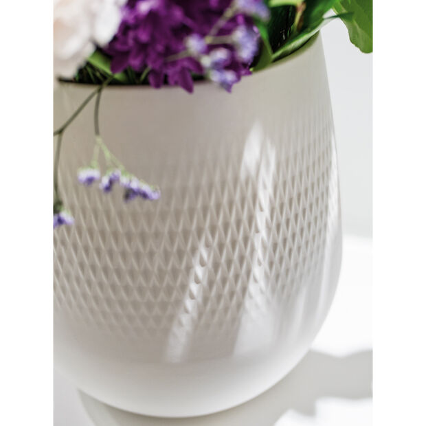 Collier Blanc Small Vase : Carre 5 in, , large