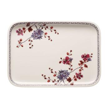 Artesano Provencal Lavender Baking Rectangular Serving Plate/Lid 14 in