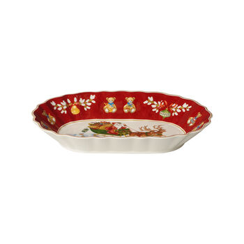Toy's Fantasy Large Oval Bowl : Sleigh 11.5x8 in
