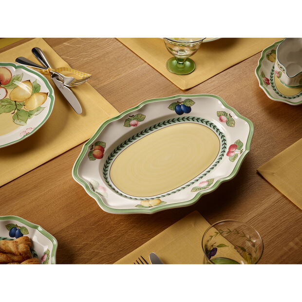 French Garden Fleurence Oval Platter 14 1/2 in, , large