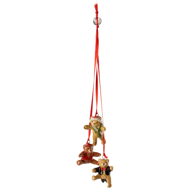 My Christmas Tree Ornament : Trio of Teddys 8.25 in, , large
