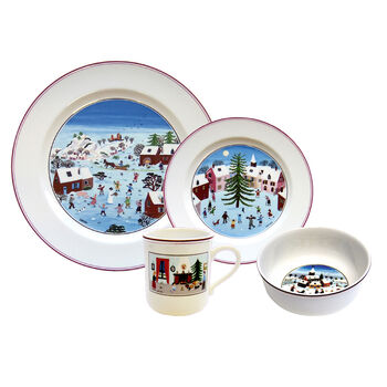Design Naif Christmas 4 Piece Dinnerware Set
