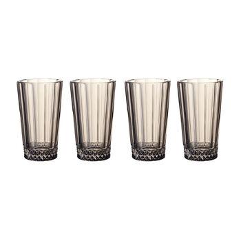 Opera Smoke Tall Glass : Set of 4 5.5 in/11.5 oz