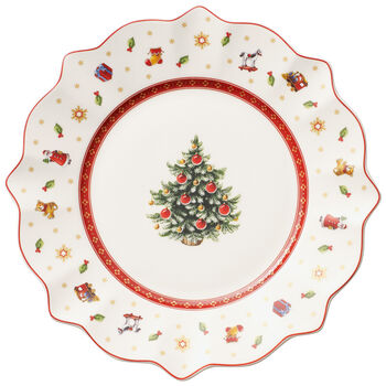 Toy's Delight Salad Plate, White 9 1/2 in