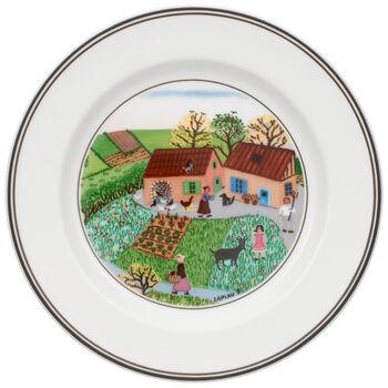 Design Naif Appetizer/Dessert Plate #5 - Family Farm 6 3/4 in