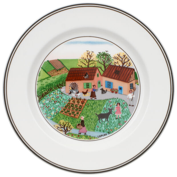 Design Naif Appetizer/Dessert Plate #5 - Family Farm 6 3/4 in, , large