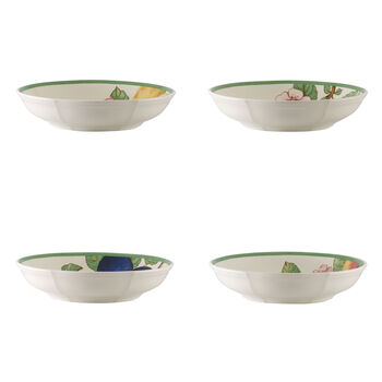 French Garden Modern Fruits Pasta Bowl : Assorted Set of 4 9.25 in