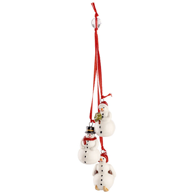 My Christmas Tree Ornament : Trio of Snowmen 8.25 in, , large