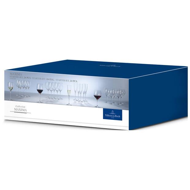 Maxima 24 Piece Crystal Glass Wine Set, , large