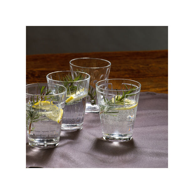 Dressed Up Crystal Glass Tumblers - Assorted Patterns : Set of 4, , large
