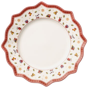 Toy's Delight Dinner Plate, White 11 1/2 in