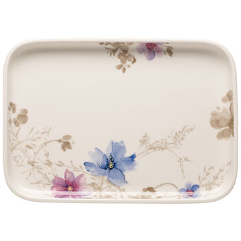 Mariefleur Gris Baking Dishes Rectangular Serving Plate/Lid 14 in