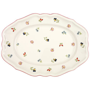 Petite Fleur Oval Platter 14 1/2 in