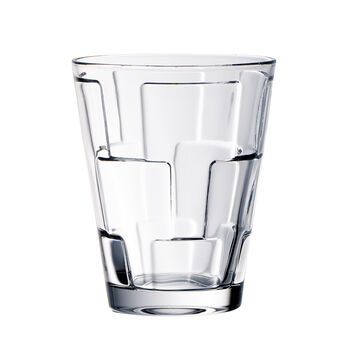 Dressed Up Crystal Glass Tumblers - Assorted Patterns : Set of 4