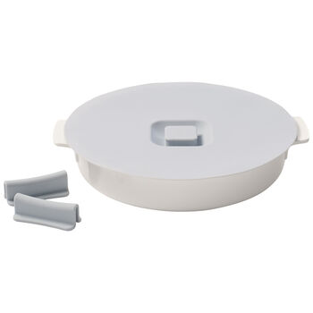 Clever Cooking Round Baker & Silicone Lid/Handles 11 in