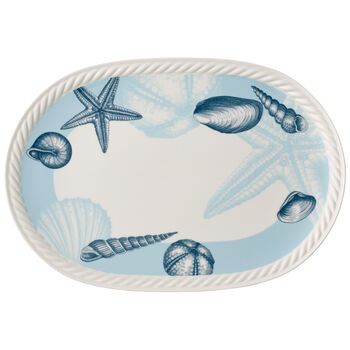 Montauk Beachside Oval Platter 17x12 in