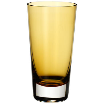 Colour Concept Highball Glass, Amber 6 1/4 in