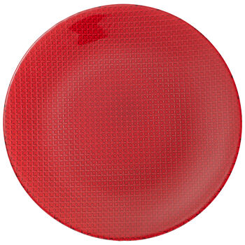 Colour Concept Buffet Plate, Red 12 1/2 in