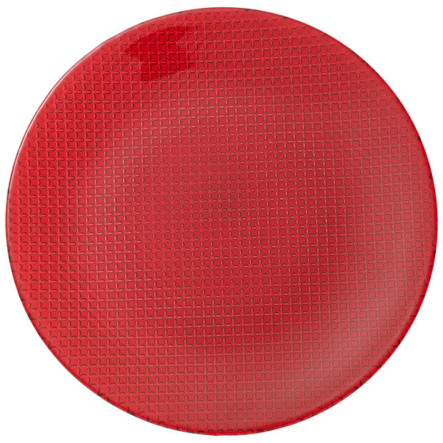 Colour Concept Buffet Plate, Red 12 1/2 in, , large