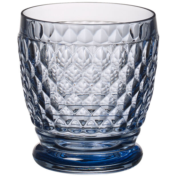 Boston Colored Double Old-Fashioned Glass, Blue, , large