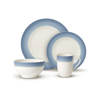 Colorful Life Winter Sky 8 Piece Dinner Set for 2