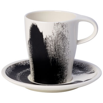 Coffee Passion Awake Coffee Mug & Saucer Set 12 oz