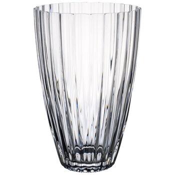 Light & Flowers Clear Vase, Tulip 9 in