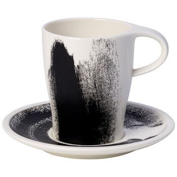 Coffee Passion Awake Coffee Mug & Saucer Set 12 oz