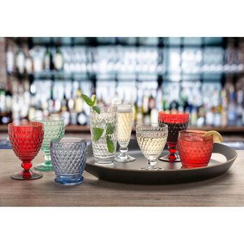 Boston Colored Claret Glass, Blue 11 oz