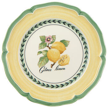French Garden Valence Lemon Salad Plate 8 1/4 in