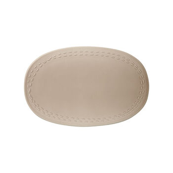 it's my moment Oval Plate : Almond 10.25 in