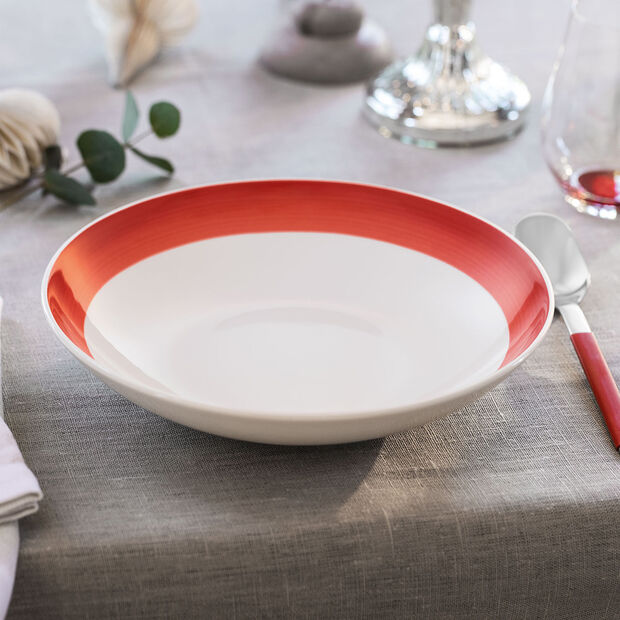 Colorful Life Deep Red Pasta Bowl 37 oz, , large