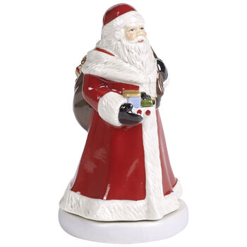Nostalgic Melody Turning Santa Music Figurine 3.5x3.25x6 in