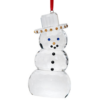 Crystal House Crystal Snowman Ornament