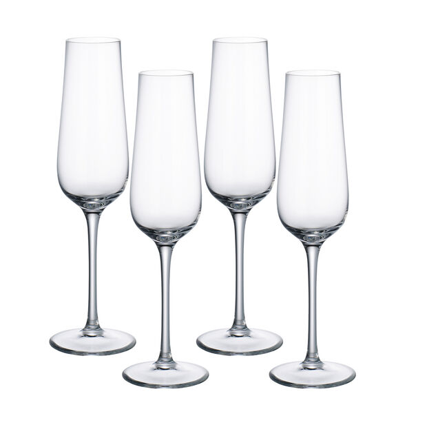 Purismo Champagne Glasses, Set of 4, , large